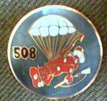 Crest, 508th PIR, Round with Red Devil, each