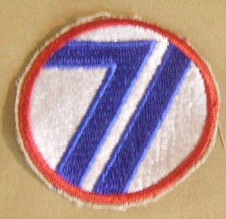 Patch, Division, Infantry, 71st