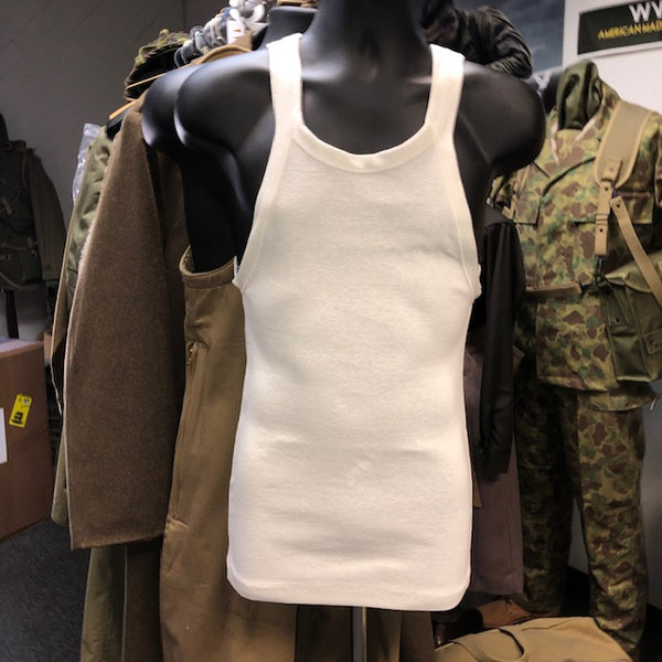 Undershirt, Army, Vintage White, Cotton, Summer, Sleeveless