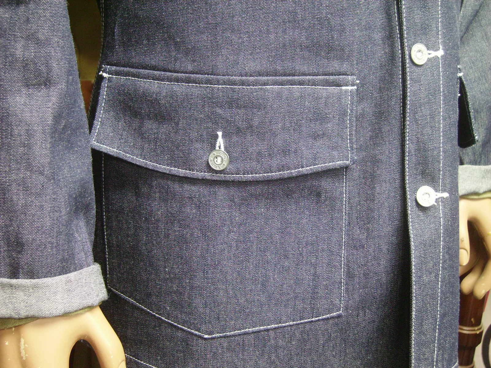 Coat, Work, Blue-Denim, 1940