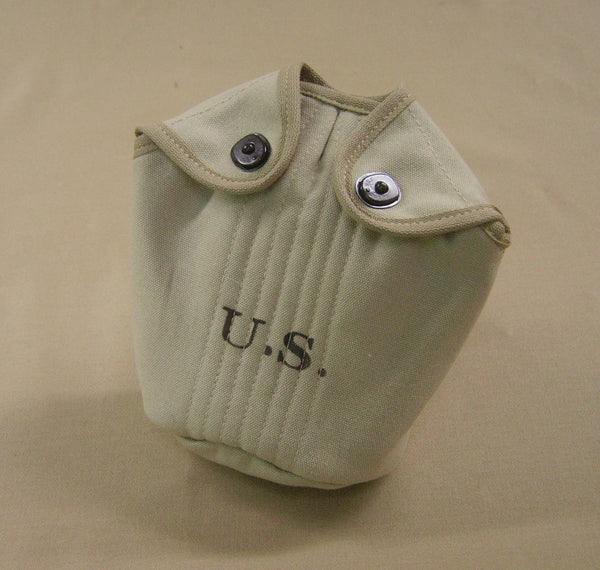 Cover, Canteen, Dismounted, M1910, Bleached Khaki CLOSEOUT sold as-is. All sales final.