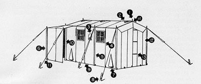 Tent , Command Post, M-1942 (No Stakes or Poles)