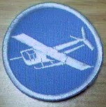 Patch, Cap, Lt Blue, White Glider