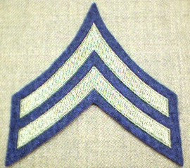 Chevrons, Rank, Felt, Corporal, Army