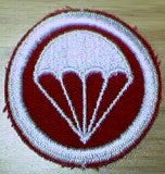 Patch, Cap, Red Twill, White Para