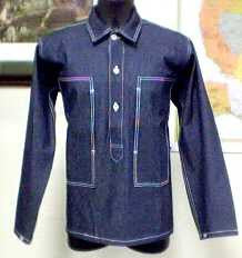 Shirt, Work, Blue Denim, M1937