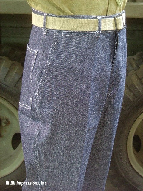 Trousers, Work, Blue Denim, M1940