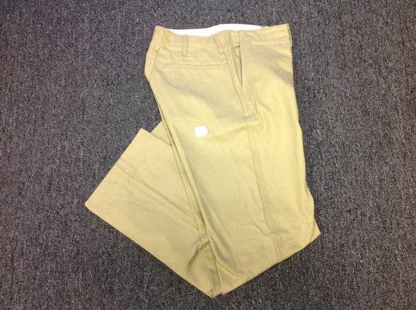 Trousers, Cotton, Khaki, Army CLOSEOUT sold as-is. All sales final.
