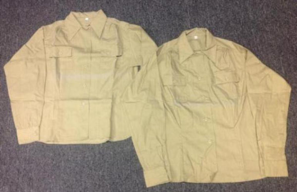 Waist (Shirt), Cotton Khaki, Women's CLOSEOUT sold as-is. All sales final.