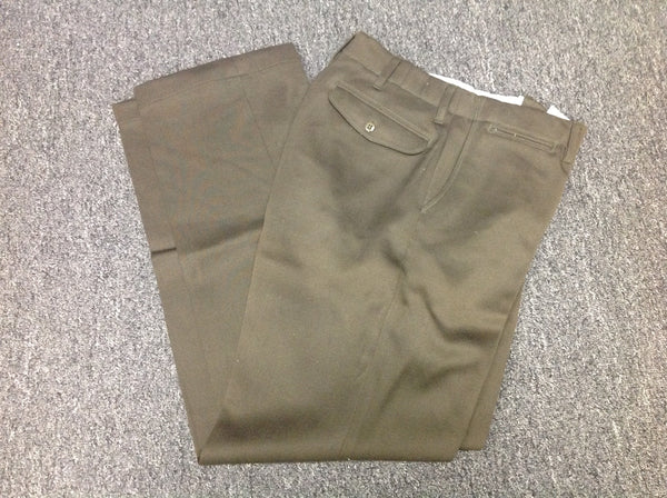 Trousers, Dress, Regulation, Officer's, Dark OD, W29 CLOSEOUT sold as-is. All sales final.