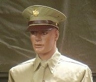 Cap, Service, Cotton, Khaki, Officer's