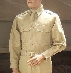 Shirt, Cotton, Khaki, M-37 Officer's