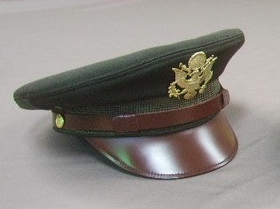 Cap, Service, Dark Shade, Officer's Regulation