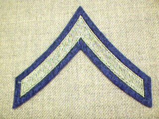 Chevrons, Rank, Felt, PFC, Army