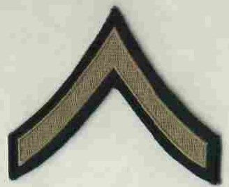 Chevrons, Rank, Khaki, PFC, Army