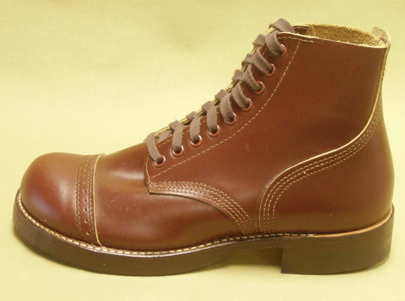 Shoes, Service, Russet, Composition Sole