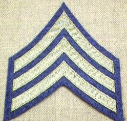 Chevrons, Rank, Felt, Sergeant, Army