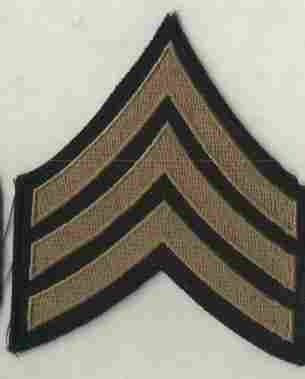 Chevrons, Rank, Khaki, Sergeant, Army