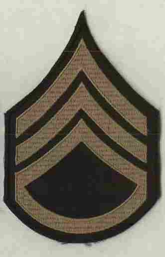 Chevrons, Rank, Khaki, Staff Sergeant, Army