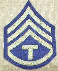 Chevrons, Rank, Felt, T/3, Army