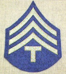 Chevrons, Rank, Felt, T/4, Army