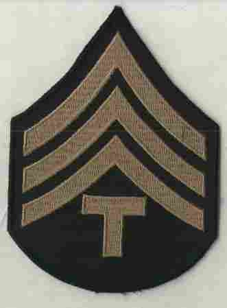 Chevrons, Rank, Khaki, T/4, Army