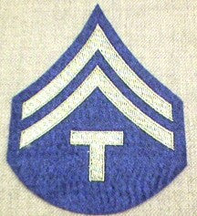 Chevrons, Rank, Felt, T/5, Army