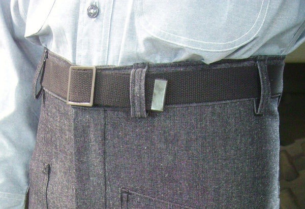 Belt, Web, Trouser, Black  USN (EM Black Buckle)