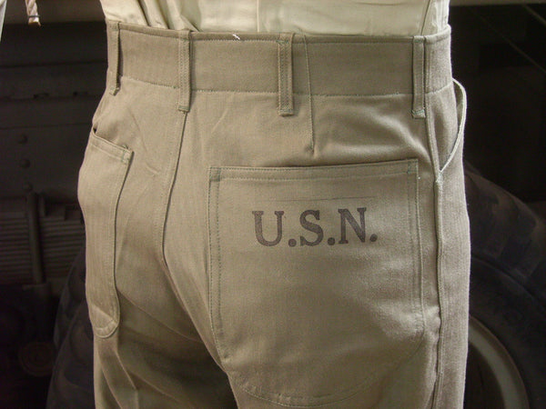 Trousers, Utility, USN, N-3 (HBT)