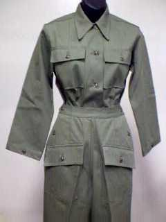 Shirt, Herringbone Twill, Women's, Dark Shade, Army CLOSEOUT sold as-is. All sales final.