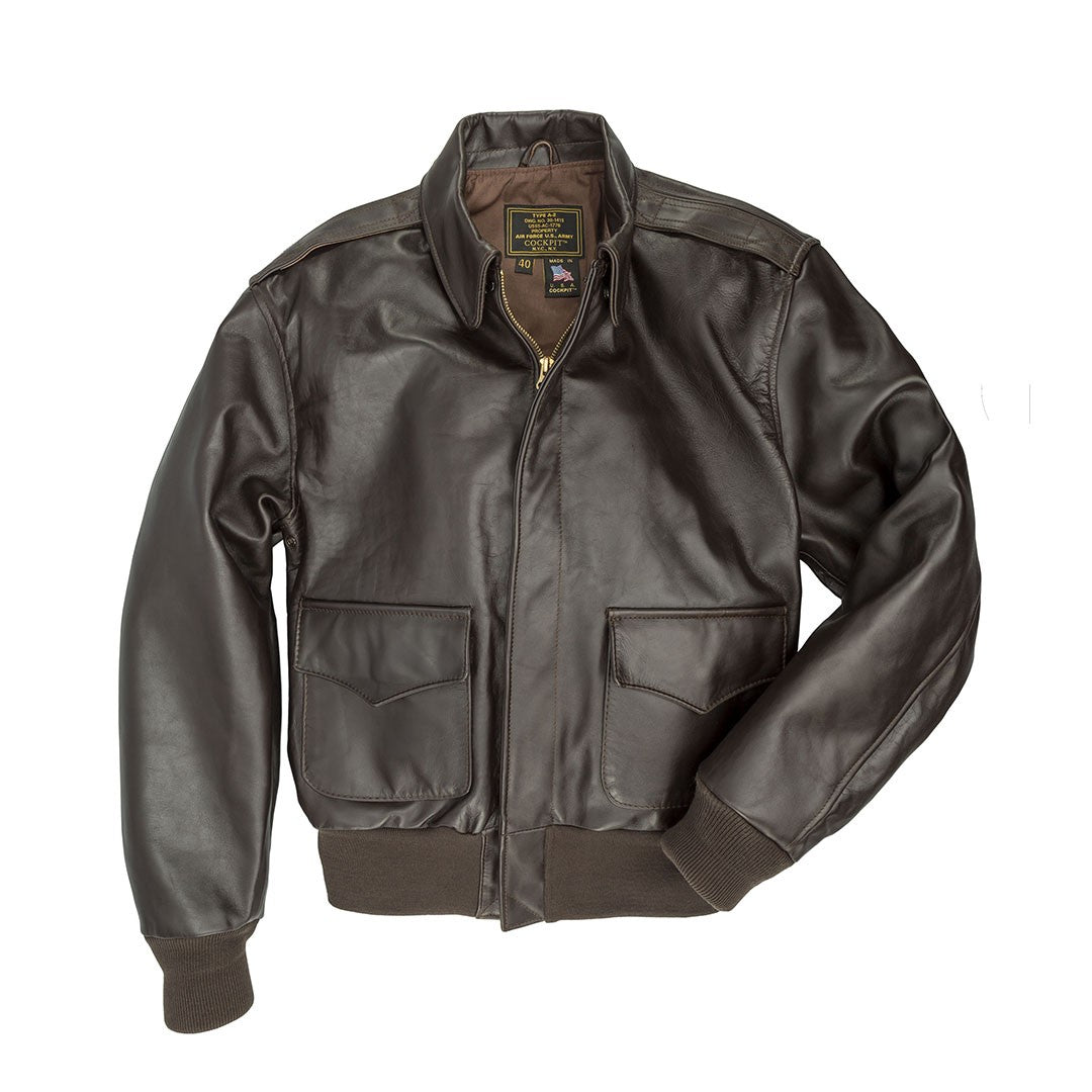 Jacket, Flying, A2, Russet Brown Horsehide