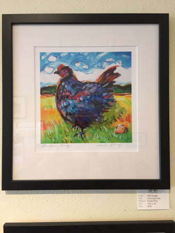 "SPECIAL EDITION: ""Clucking Cindy"" framed print"