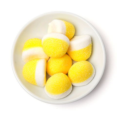 yellow lemon pufflettes