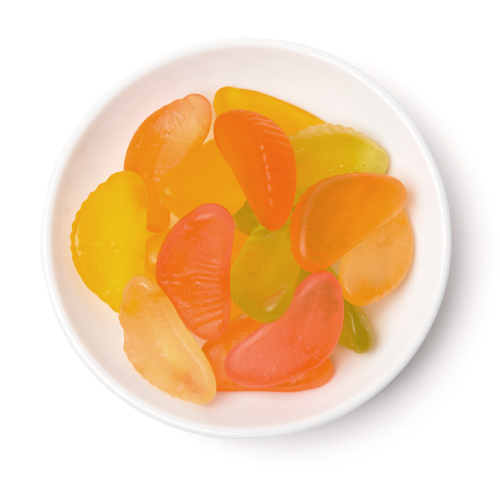 gummy fruit slices