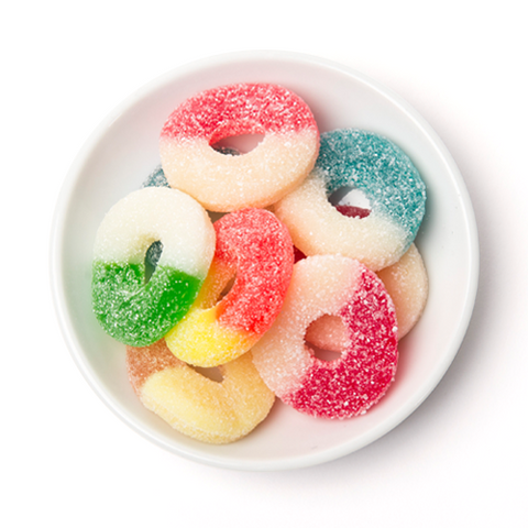 gummy assorted flavour rings