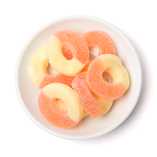 gummy strawberry banana rings