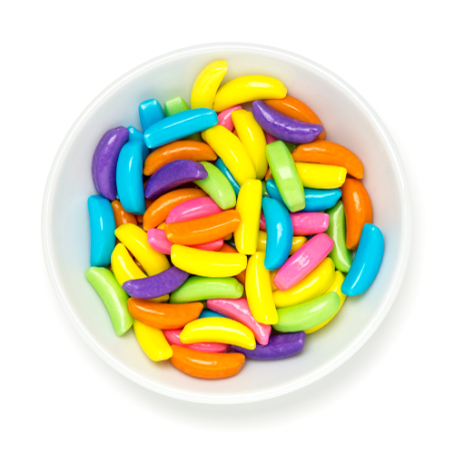 crunchy rainbow candy bananas