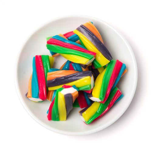 rainbow licorice bites