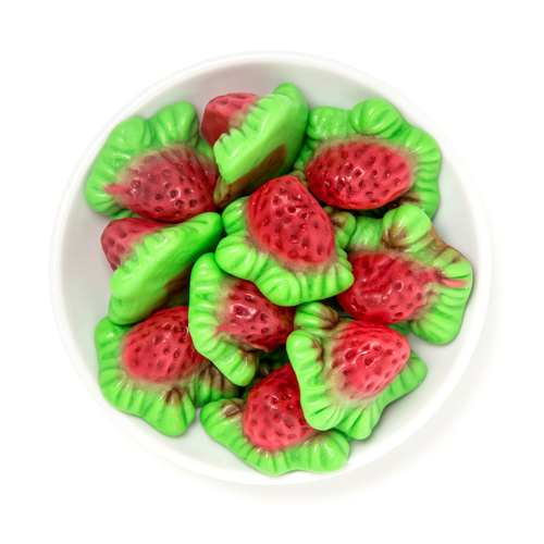gummy filled strawberries