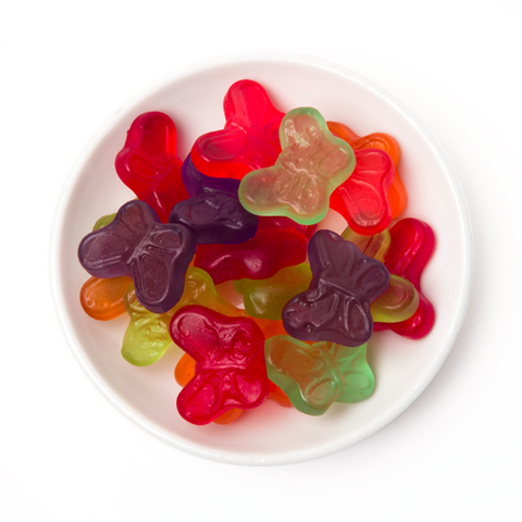 gummy mini butterflies