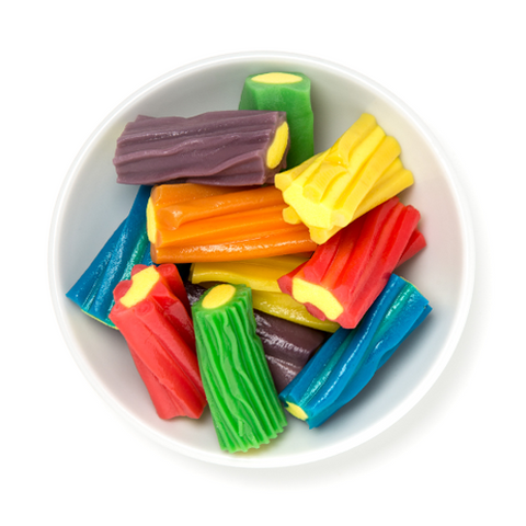 rainbow filled licorice