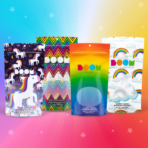 Rainbow 4 Pack Candy Bag Collection