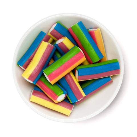rainbow striped licorice