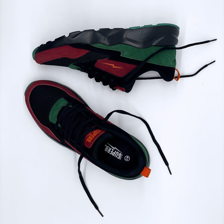 Turbo 1 (Duck Hunts) - Wine/Forest Green/Burnt Orange/Black