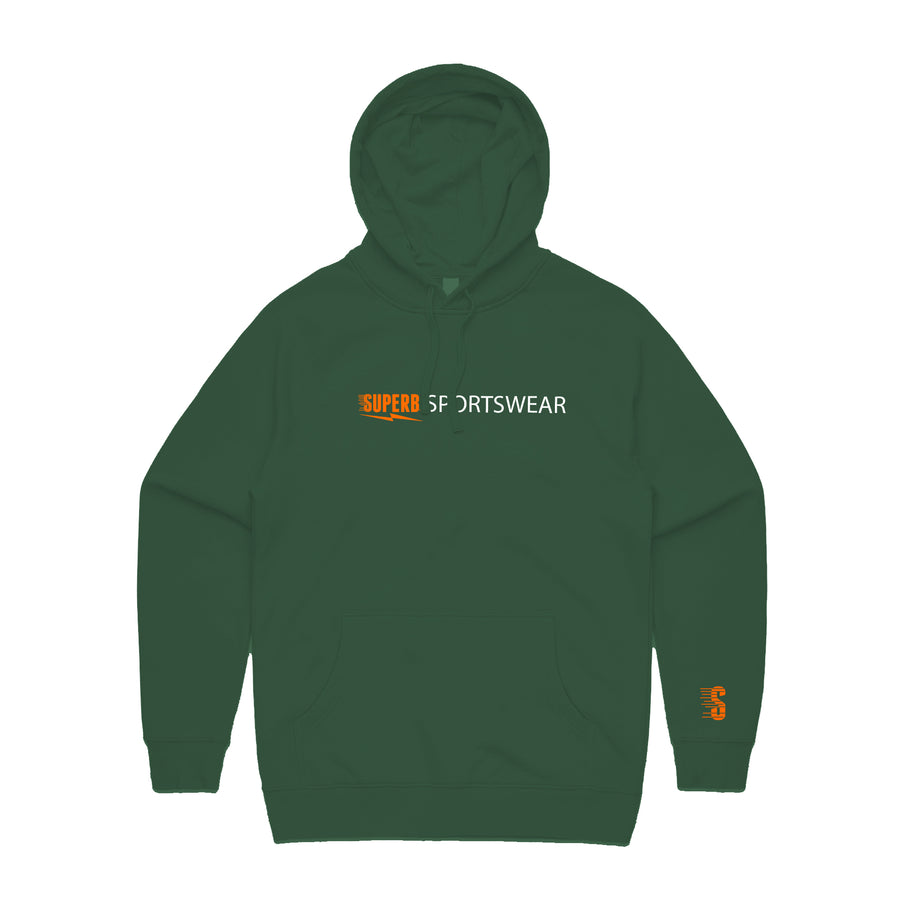 Superb Sportswear Bar Hoodie - Forrest Green/Orange/White