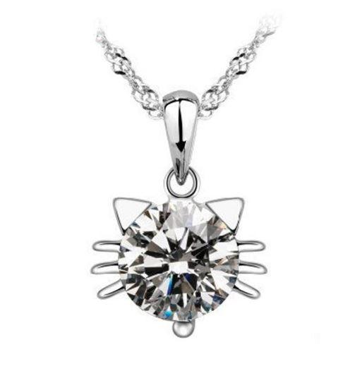 Collier Chat en Diamant Royaume du Bijou