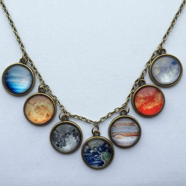 Collier Galaxie en Laiton Antique Royaume du Bijou Collier