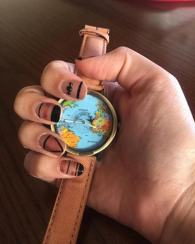 La montre globetrotteuse ( avec avion mobile )