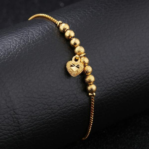 BRACELET COEUR D'OR REGLABLE
