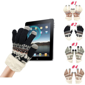 Winter Touch Screen Gloves Baby Kids Extra-warm Fleece Gloves Christmas Winter Wool Knitted Warm Gloves Unisex L1105 Royaume du Bijou